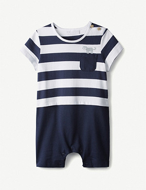 THE LITTLE WHITE COMPANY Little Tiger cotton romper 0-24 months