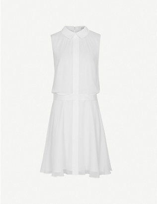 REISS: Allie sleeveless crepe mini dress