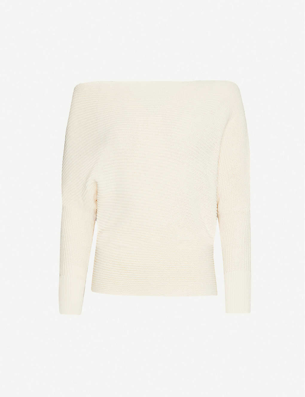 REISS: Ava dropped-shoulder cotton-knit jumper