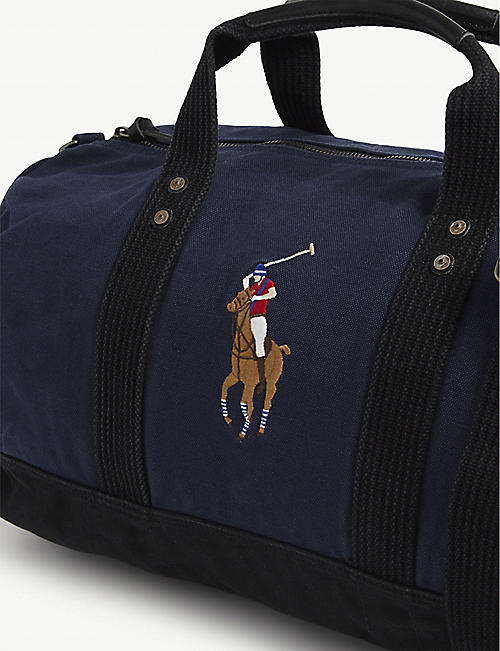 POLO RALPH LAUREN Polo logo canvas duffle bag