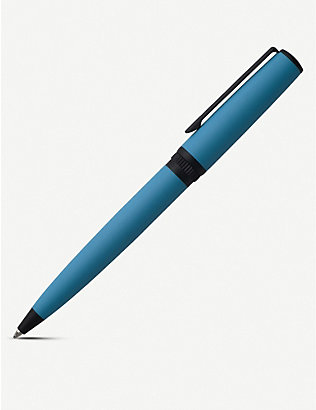 HUGO BOSS: Gear rubber-coated brass ballpoint pen