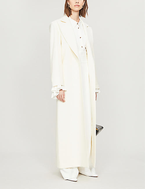 KHAITE Rania notch-lapel twill coat