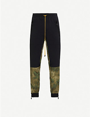 RHUDE: Flight contrast-panel woven trousers