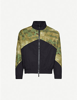 RHUDE: Flight camouflage-panel woven jacket