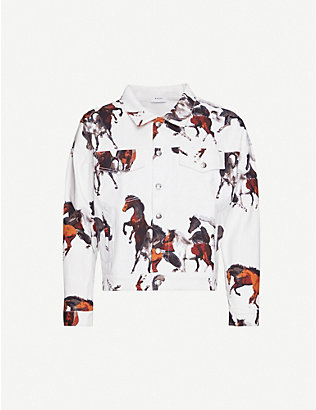 RHUDE: Horse-print denim jacket