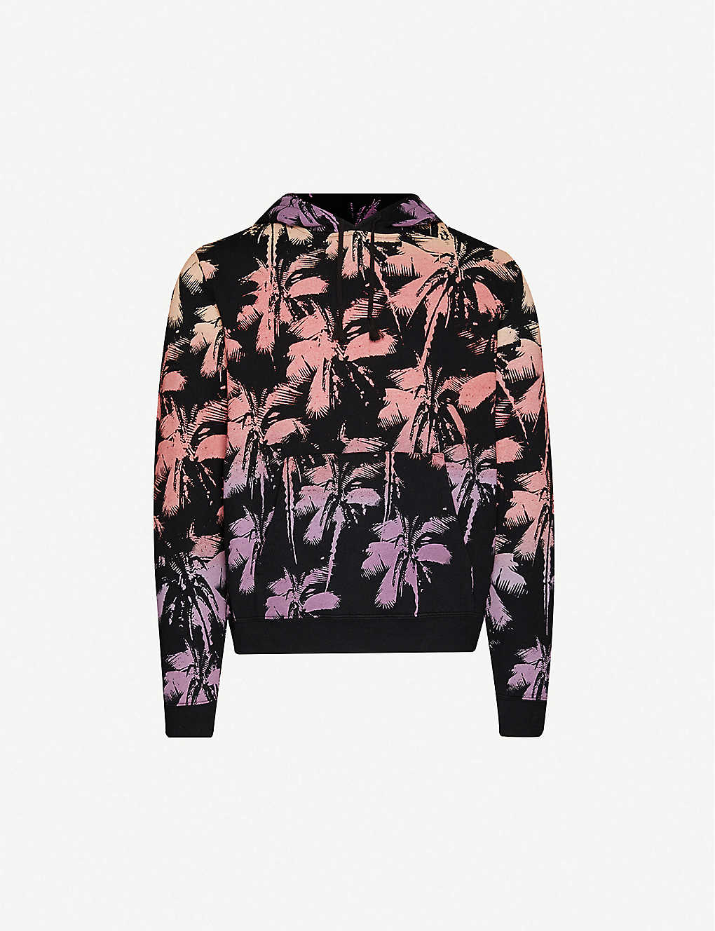 SAINT LAURENT: Graphic-print cotton-jersey hoody