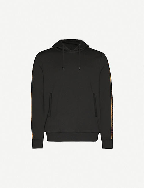 FENDI: Logo-trim cotton, wool, silk and cashmere-blend hoody