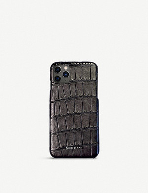 MINTAPPLE Alligator-embossed leather iPhone 11 Pro case