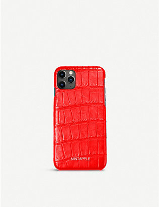 MINTAPPLE: Alligator-embossed leather iPhone 11 Pro case
