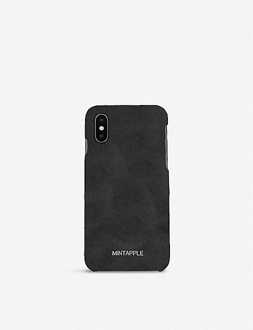 MINTAPPLE: Suede iPhone Xs Max case