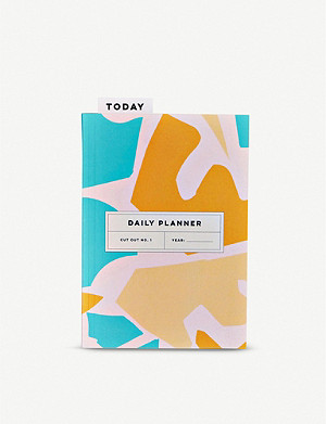 THE COMPLETIST Cut Out Shapes undated daily planner