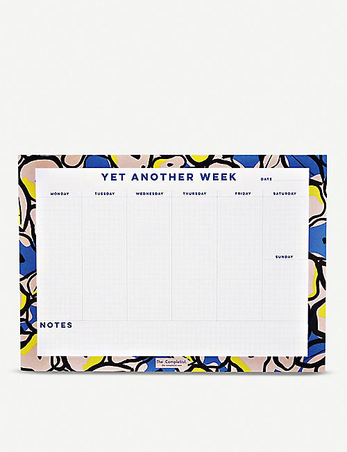 THE COMPLETIST Inky Flowers weekly planner pad