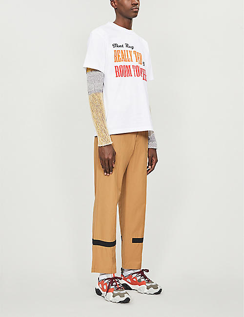 SACAI Graphic-printed cotton-jersey T-shirt