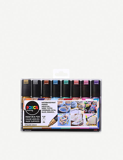 POSCA: PC-8K water-based paint markers pack of eight