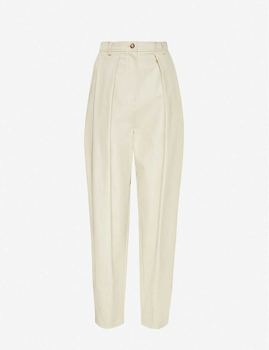 MAGDA BUTRYM: Harwich tapered high-rise cotton trousers