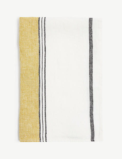 HARMONY: Lecci striped linen kitchen towel