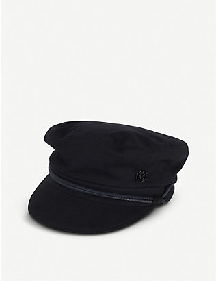 MAISON MICHEL: Abby wool-blend baker boy hat