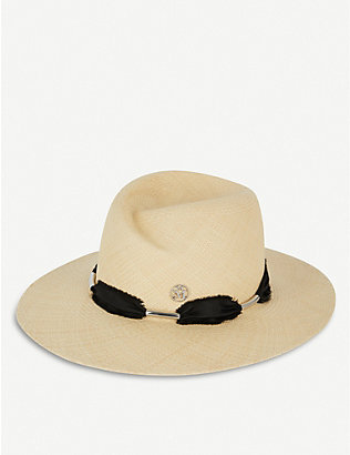 MAISON MICHEL: Virginie canvas fedora hat