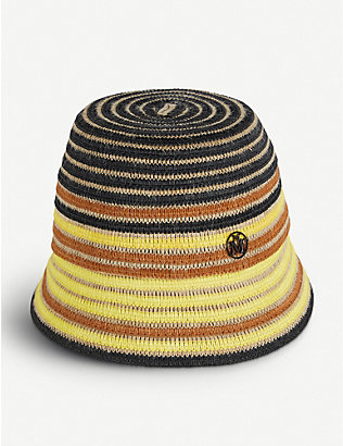 MAISON MICHEL: Souna straw bucket hat