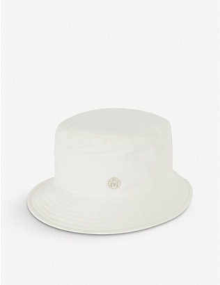 MAISON MICHEL: Virginie canvas bucket hat