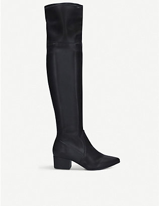 KG KURT GEIGER: Wella faux-leather knee-high boots
