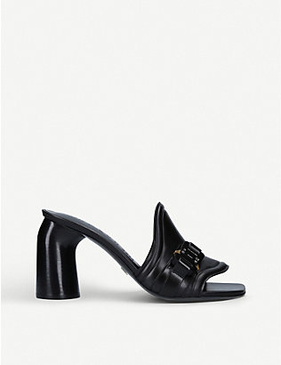 ALYX: Buckle-embellished leather mules