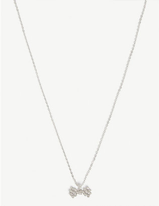 TED BAKER: Brizla crystal bow pendant necklace