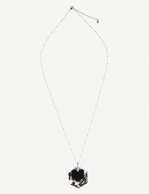 TED BAKER: Honnita bumblebee honeycomb pendant necklace