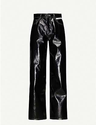 KIMHEKIM: Wide-fit high-rise vinyl trousers