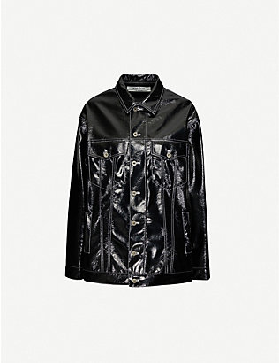 KIMHEKIM: Oversized long-sleeved vinyl jacket