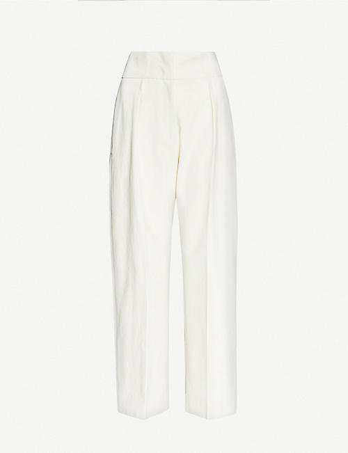 JIL SANDER: Mads high-rise cotton trousers