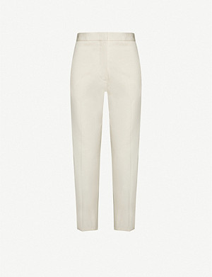JIL SANDER Straight high-rise cotton trousers