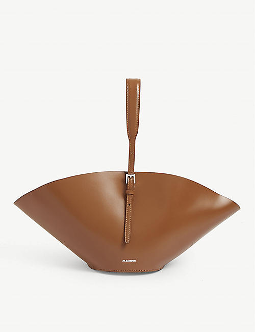 JIL SANDER Sombrero leather tote bag