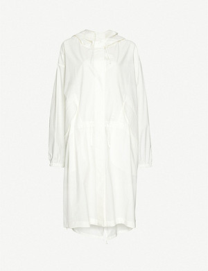 JIL SANDER Hooded funnel-neck cotton coat
