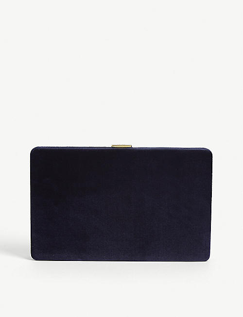 ANYA HINDMARCH: Velvet clutch bag