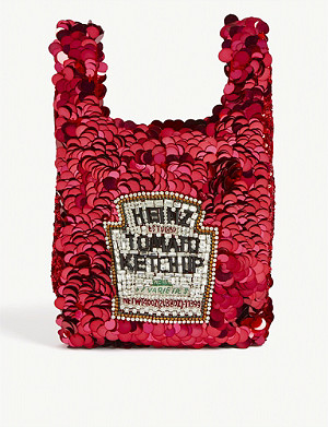 ANYA HINDMARCH Heinz ketchup mini sequin tote