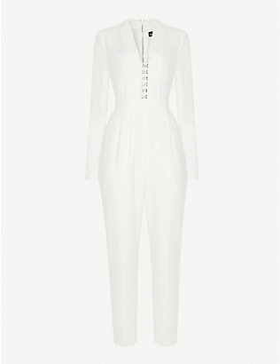 LAVISH ALICE: Corseted crepe jumpsuit