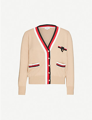 CLAUDIE PIERLOT: Macedoh wool and cotton-blend cardigan