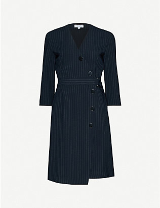 CLAUDIE PIERLOT: Pinstriped woven mini dress