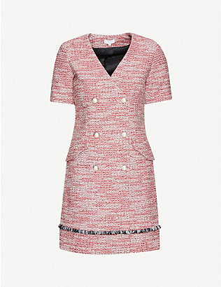 CLAUDIE PIERLOT: Ramie cotton-blend dress