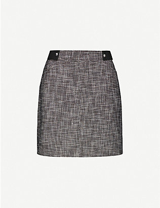 CLAUDIE PIERLOT: Seth high-waist cotton-blend mini skirt