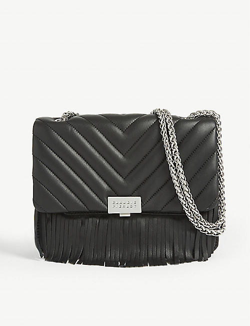 CLAUDIE PIERLOT: Angela leather shoulder bag