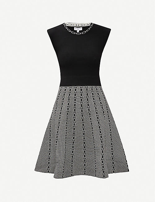 CLAUDIE PIERLOT Margueritee flared stretch-woven mini dress