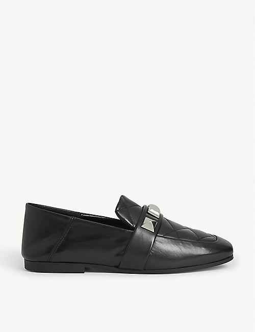 CLAUDIE PIERLOT Studded quilted leather loafers