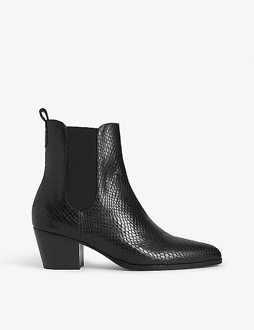 CLAUDIE PIERLOT Python-embossed leather ankle boots