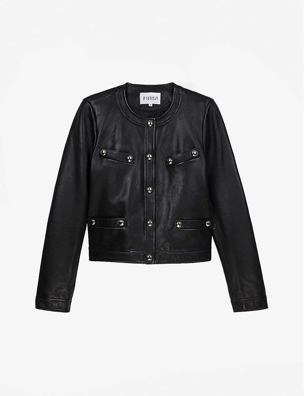 CLAUDIE PIERLOT: Caroussele straight-cut leather jacket