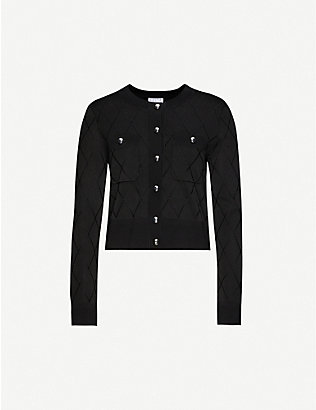 CLAUDIE PIERLOT: Mallise quilted-effect woven cardigan