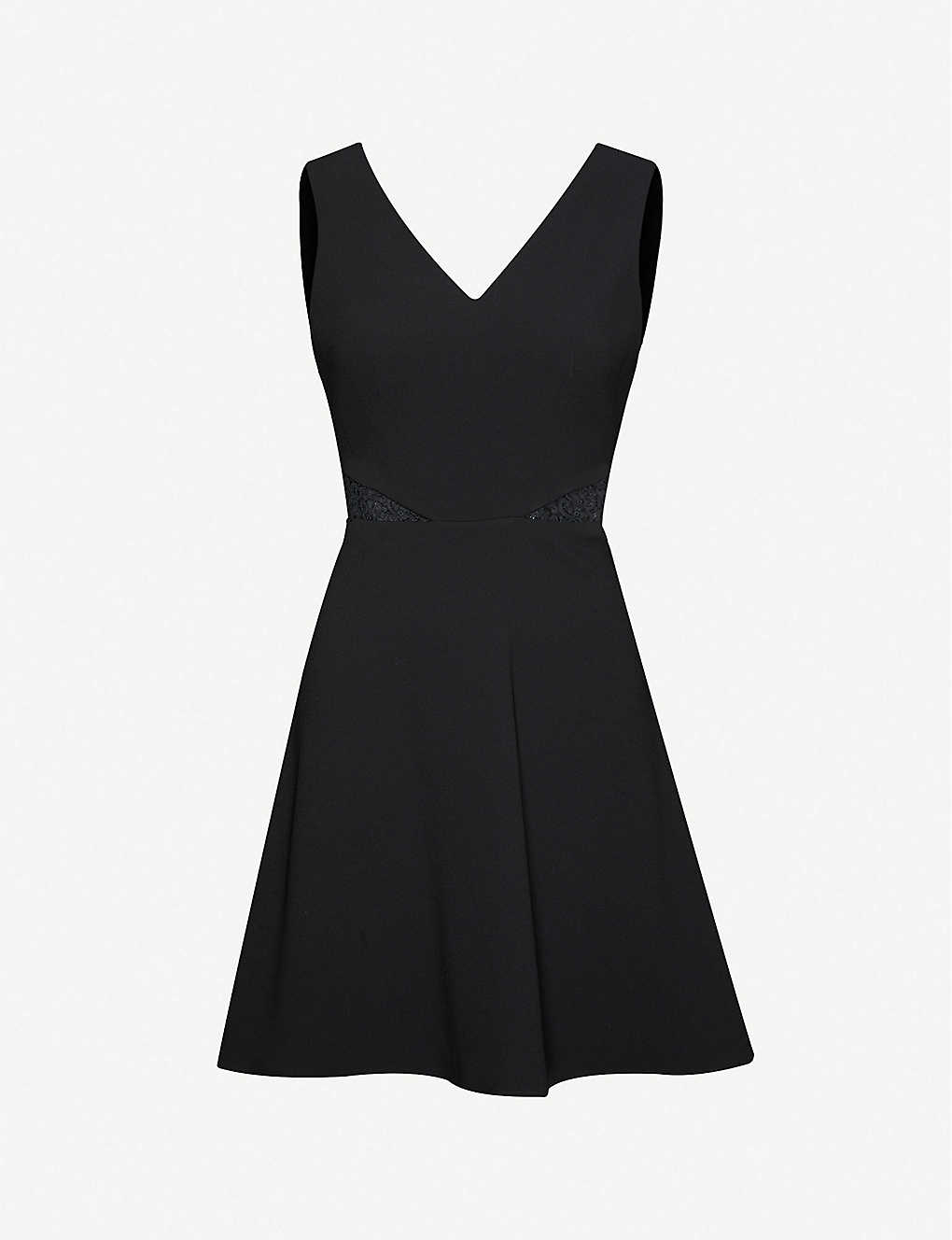 CLAUDIE PIERLOT: Lace-embroidered crepe mini dress