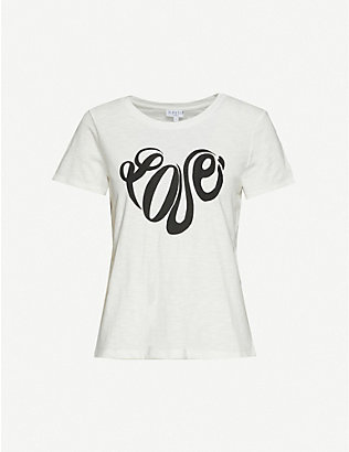 CLAUDIE PIERLOT: Tartinee text-print cotton-jersey T-shirt