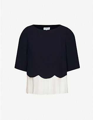 CLAUDIE PIERLOT: Bruinee scalloped crepe top